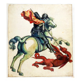 St. George and the Dragon, from 'Anecdotes of Painting in England' Written by Horace Walpole Giclee Print by Alexander Marshal