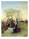 Funeral Repast at the Grave, 1884 (Oil on Canvas) Giclee Print by Vladimir Egorovic Makovsky