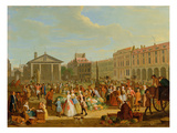 Covent Garden, C.1726 (Oil on Copper) Giclee Print by Pieter Angillis