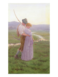 A Tender Moment (W/C on Paper) Giclee Print by William Henry Gore