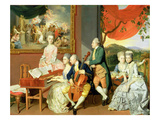 George, 3rd Earl Cowper, with the Family of Charles Gore, C.1775 (Oil on Canvas) Giclee Print by Johann Zoffany