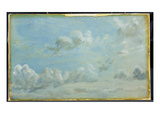 Study of Cumulus Clouds, 1822 (Oil on Paper Laid Down on Panel) Giclee Print by John Constable
