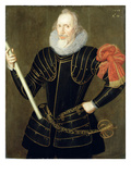 Portrait of a Man, 1593 (Oil on Panel) Giclee Print by Robert, the Elder Peake