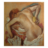 Woman at Her Toilet, C.1894 (Pastel) Giclee Print by Edgar Degas