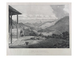 View from Kotagherry Looking Down the Plains of Coimbetoor, Plate 2 Giclee Print by Captain E. A. McCurdy