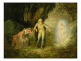 Miranda, Prospero and Ariel, from &#39;The Tempest&#39; by William Shakespeare, C.1780 (Oil on Canvas) Giclee Print by  English
