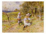 The Primrose Gatherers (W/C on Paper) Giclee Print by William Stephen Coleman