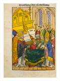 Martin V Is Installed as Pope at the Council of Constance, from 'Chronik Des Konzils Von Konstanz' Giclee Print by Ulrich Von Richental