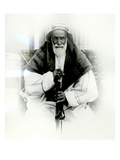 Isa Ibn Ali Al Khalifah (B/W Photo) Giclee Print by  English Photographer
