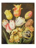 Flower Study (Oil on Panel) Giclee Print by Johann Friedrich August Tischbein
