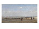 Women on the Beach at Low Tide (Oil on Canvas) Giclee Print by Henry Moore