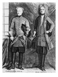 Charles Xii of Sweden with His Advisor Baron Gortz (Engraving) Giclee Print by  Swedish