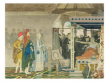 Fredegonda at the Deathbed of Praetextatus (Pencil and W/C on Paper) Giclee Print by Sir Lawrence Alma-Tadema