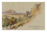 View Near Palermo, 1847 (Pen and Ink with W/C over Pencil on Paper) Giclee Print by Edward Lear
