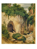 Rocks at Sorrento, 1823 (Oil on Paper on Canvas) Giclee Print by Heinrich Reinhold