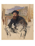 Self Portrait in His Atelier, c.1884 Giclee Print by Claude Monet