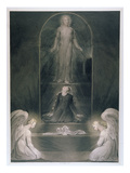 Mary Magdalene at the Sepulchre, C.1805 (W/C and Pen and Black Ink on Paper) Giclée-Druck von William Blake