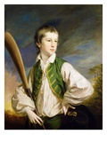 Charles Collyer as a Boy, with a Cricket Bat, 1766 Giclee Print by Francis Cotes