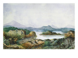 Landscape with a Lake (W/C on Paper) Giclee Print by George Sand