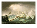 Shipwreck Off a Rocky Coast Giclee Print by Thomas Buttersworth