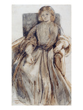 Miss Elizabeth Siddal (Pen and Ink and Wash on Paper) Giclee Print by Dante Charles Gabriel Rossetti