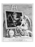 Time Smoking a Picture, 1761 (Engraving) Giclee Print by William Hogarth