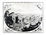 Early Settlement of Venice (Engraving) (Also See 417314) Giclee Print by  Italian