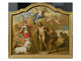 Allegory of the Power of Great Britain by Land, Design for a Decorative Panel Giclee Print by Sir James Thornhill