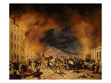 The Battle of 31st March in Defence of Porta Torrelunga in Brescia Giclee Print by Faustino Joli