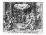 Life of Christ, Adoration of the Shepherds, Preparatory Study of Tapestry Cartoon Giclee Print by Henri Lerambert