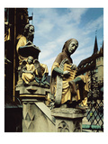 The Schoner Brunnen Fountain, Detail of St. Matthew and a Personification of Music, 1385-96 (Photo) Giclee Print by Heinrich Parler