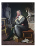 Bertel Thorvaldsen in His Studio at Rome, 1834 Giclee Print by Eduard von Heuss
