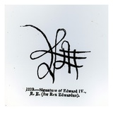 Signature of Edward Iv (1442-83) (Litho) (B/W Photo) Giclee Print by  English