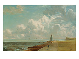 Harwich, the Low Lighthouse and Beacon Hill, C.1820 (Oil on Canvas) Reproduction procédé giclée par John Constable