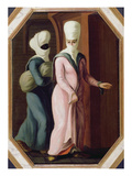 A Turkish Lady Going with Her Slave to the Bath (Oil on Canvas) Giclee Print by Francis Smith