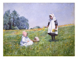 Buttercups and Daisies (W/C on Paper) Giclee Print by Minnie Jane Hardman