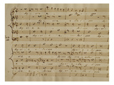 Score of the Kyrie Eleison from the 'Messa a Quattro Voci', 18th Century Copy Giclee Print by Giovanni Pierluigi da Palestrina