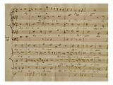 Score of the Kyrie Eleison from the 'Messa a Quattro Voci', 18th Century Copy Premium Giclee Print by Giovanni Pierluigi da Palestrina