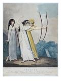 Archers, Engraved by J.H. Wright (Fl.1795-1838) and Conrad Ziegler, 1799 (Aquatint) Giclée-trykk av Adam Buck