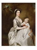 Mrs Sharpe and Child, 1731 Giclee Print by Joseph Highmore
