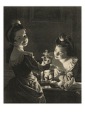 Miss Kitty Dressing, 1781 (Mezzotint) Giclee Print by Joseph Wright Of Derby