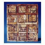 Gaming Board Depicting Animals of the Field and Forest, from Iraq, C.2500 BC (Wood) Giclee Print by  Sumerian