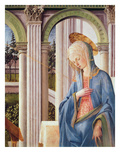 The Annunciation, Detail of the Virgin Mary (Oil on Panel) (Detail of 244961) Giclee Print by Fra Filippo Lippi
