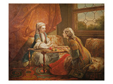 Madame De Pompadour in the Role of Fortuneteller Giclee Print by Carle van Loo