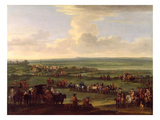George I (1660-1727) at Newmarket, 4Th/5th October 1717, C.1717 (Oil on Canvas) Giclee Print by John Wootton