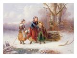 Snow Scene, 19th Century Giclee Print by Alexis De Leeuw