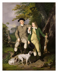 Portrait of a Sportsman with His Son, 1779 (Oil on Canvas) Reproduction procédé giclée par Francis Wheatley