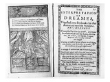 Frontispiece and Title Page to &#39;The Interpretation of Dreams&#39; by Artemidorus, English Edition Giclee Print by  English