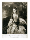 Lady Caroline Russell, Engraved by James Mcardell (C.1729-65) (Mezzotint) Giclee Print by Sir Joshua Reynolds