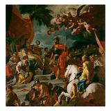 Barak and Deborah (Detail) Giclée-tryk af Francesco Solimena